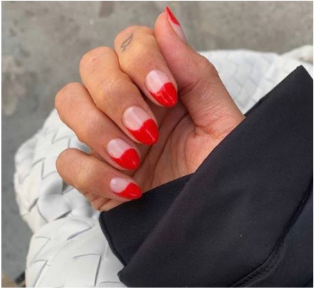 amazing scarlet red nail design
