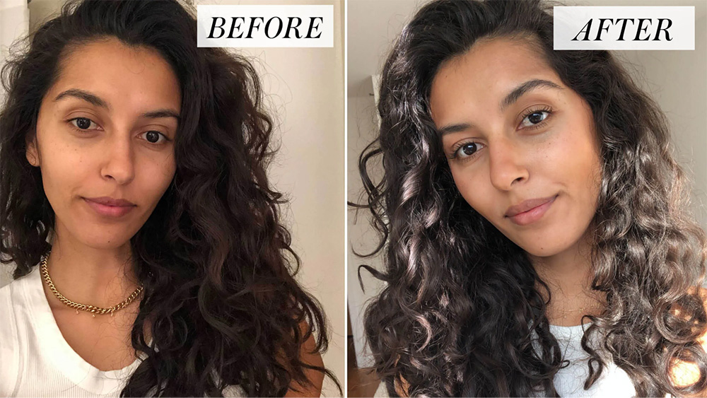 before and after curls