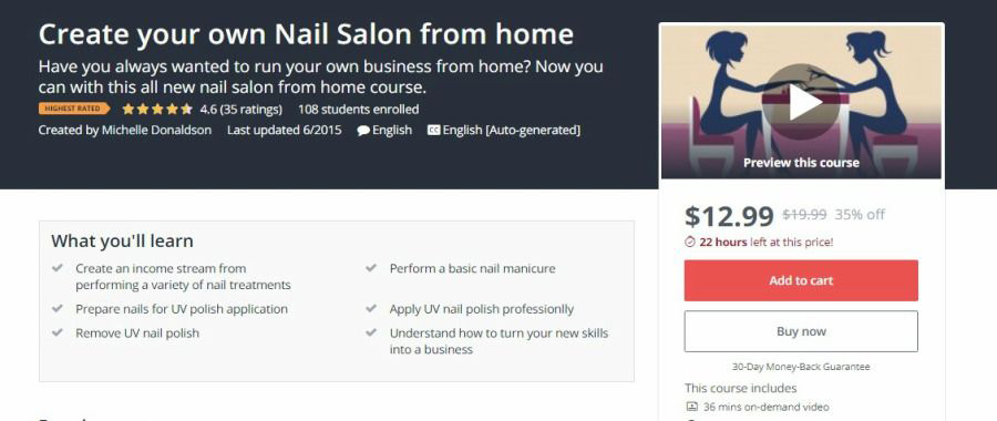 create your own nail salon from home