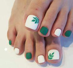 green sprout toe nails