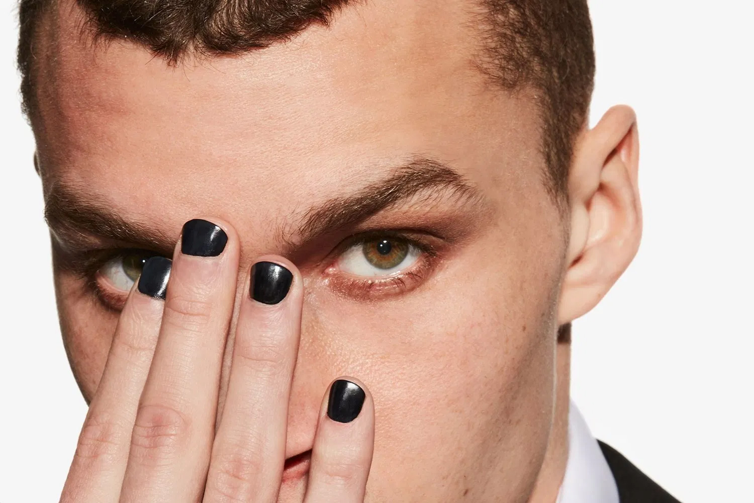 guy with black nails