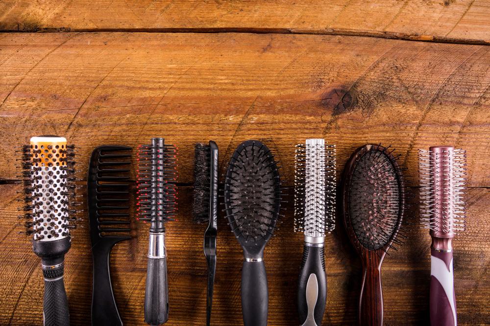 lint on hairbrush