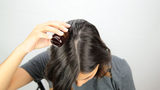 massage your scalp with essential and moisturizing oils
