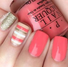 pink and glitter stripes