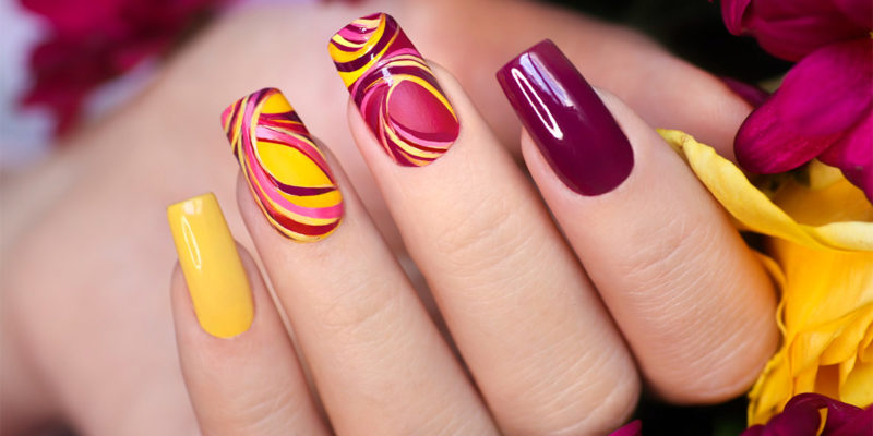 summer acrylic nail patterns that are impressive