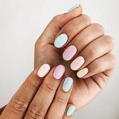 colorful round nail design