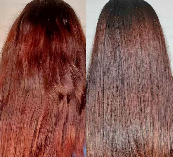 neutralize red tones in hair