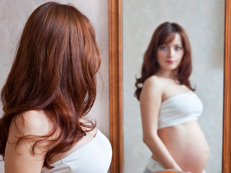 red hair during pregnancy