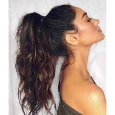 keep hair in a ponytail